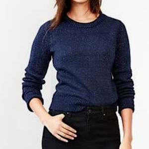 GAP SHIMMER CREWNECK PULL-OVER SWEATER